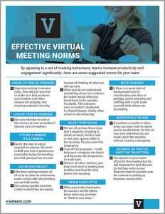 Effective Virtual Meeting Norms